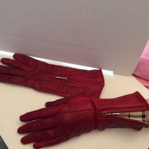Burberry Leather Nova Check Gloves 7